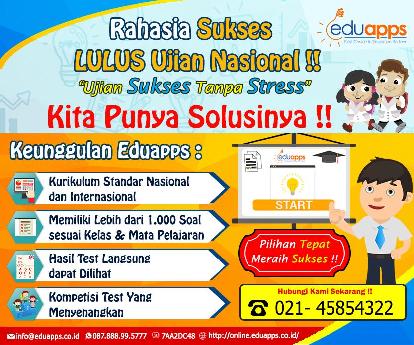 Soal Ujian Nasional dan Latihan Ulangan Terlengkap di Indonesia