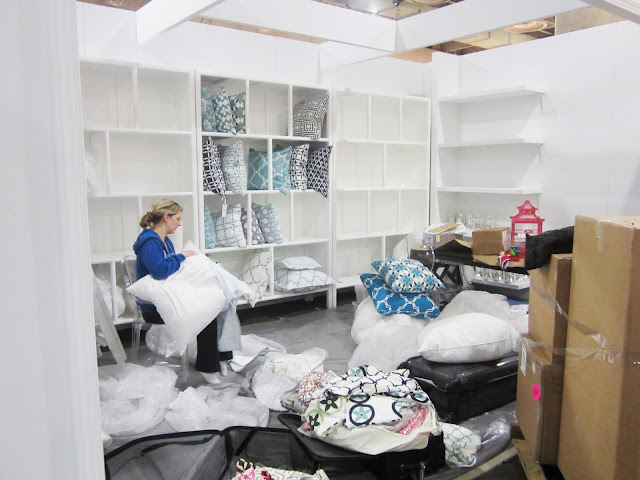 KS stuffing pillows for the Nbaynadamas booth at the New York International Gift Fair