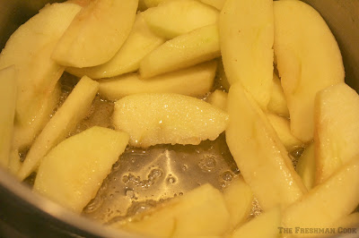 butter, apples, granny smiths, sauteed apples
