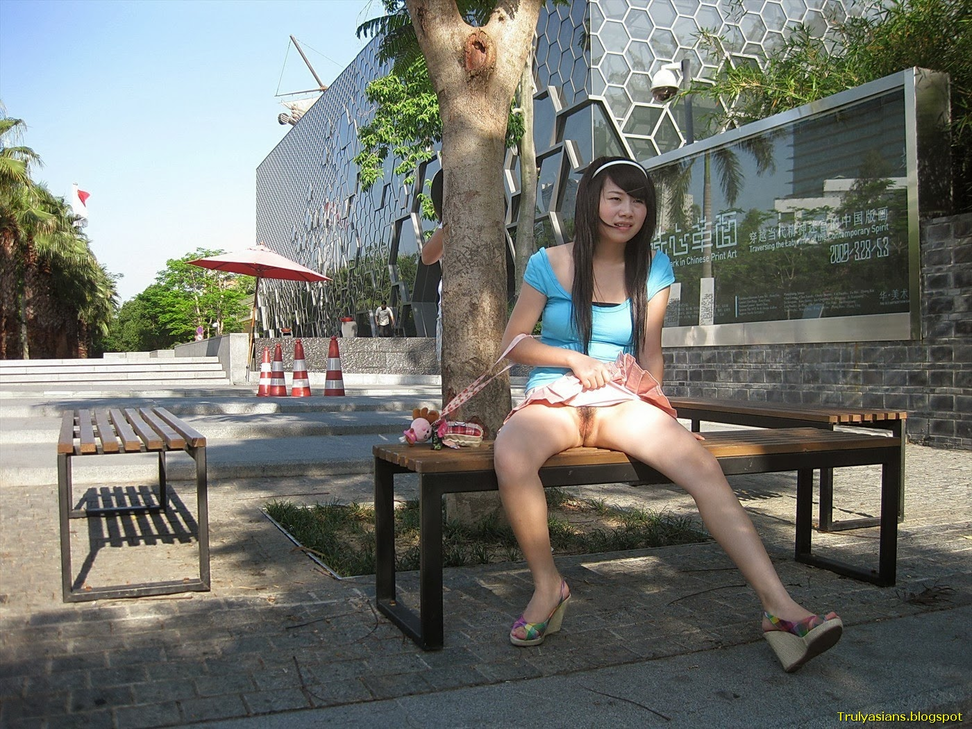 Asian girl outdoor