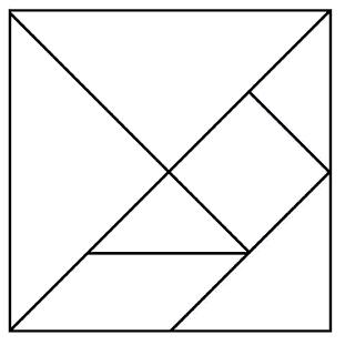 Smart image within printable tangram