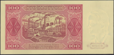 Polonia 100 Zlotych 1948 P# 139