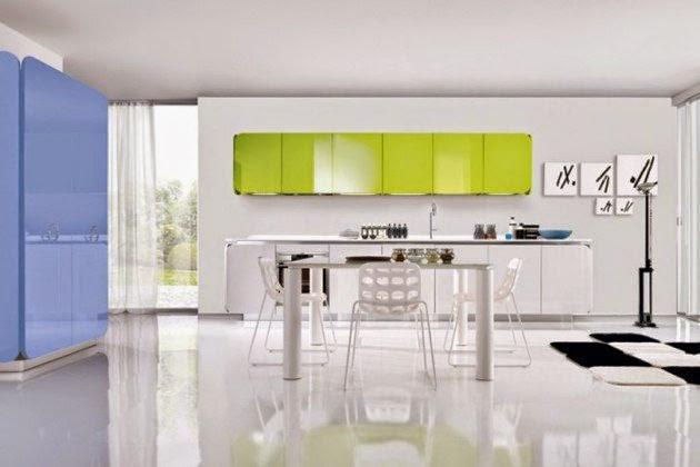 ديكور مطبخ أخضر