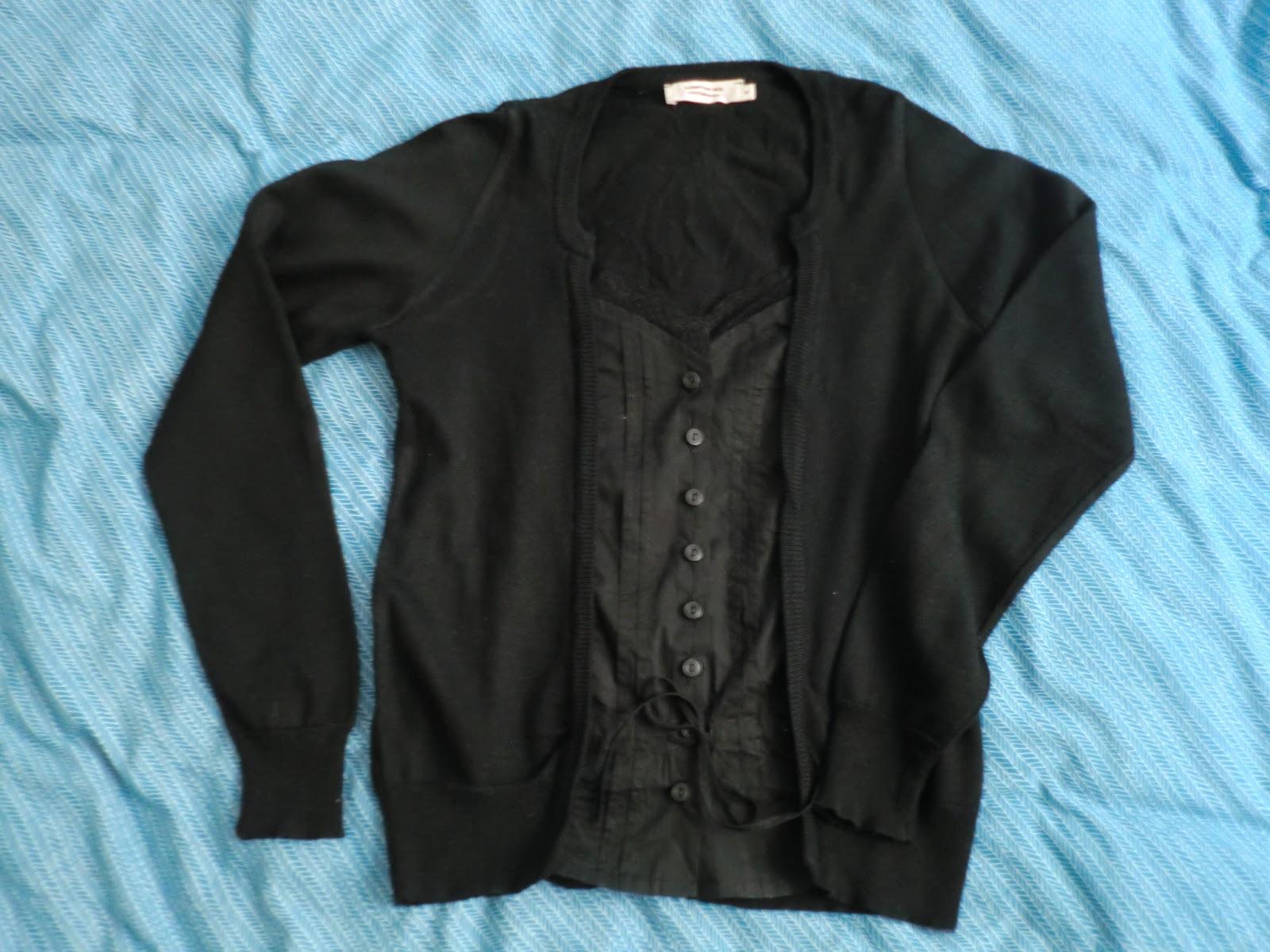 Cookie 39 s vide dressing cardigan noir laine m rinos - Comment taille comptoir des cotonniers ...