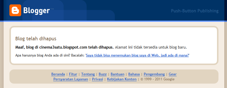blog cinema3satu dihapus