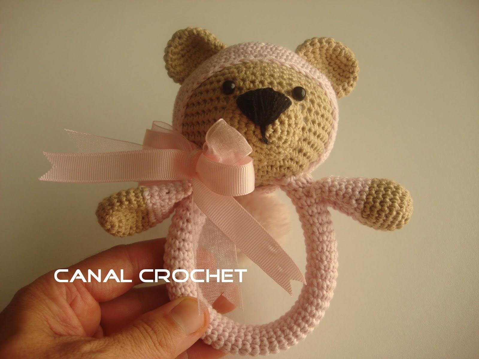 CANAL CROCHET: Sonajero crochet osito