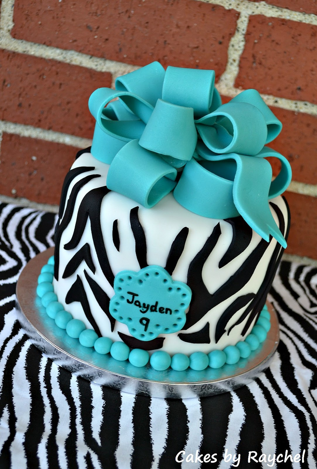 Cake With Zebra Design : My Creative Way: Turquoise Zebra Cake