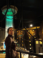 AbbyShot Customer in her Doctor Who Martha Jones Companion Jacket, in the Tenth Doctor's TARDIS at the Doctor Who Experience