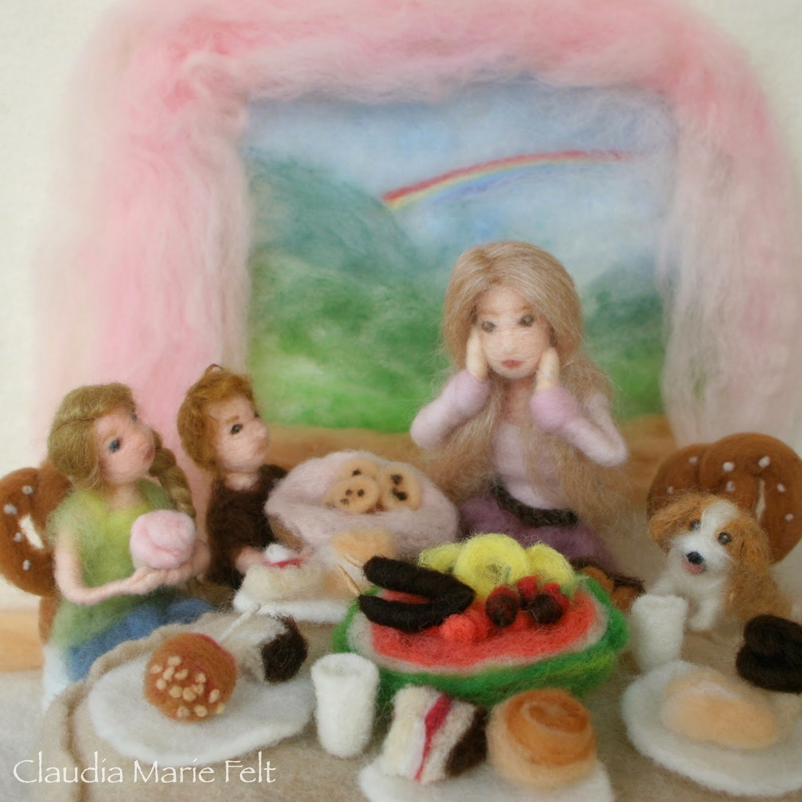 Needle Felt Book Illustrator Claudia Marie Lenart Felt Food