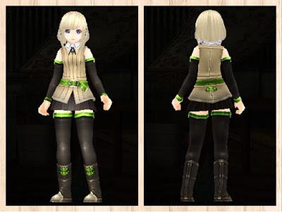冒険者の服 蛍光緑3 軽量化