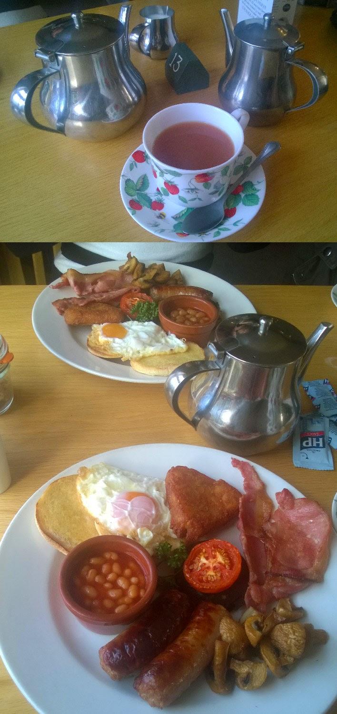 Tea, and breakfast