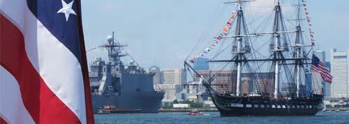 Ships in Boston Harbor