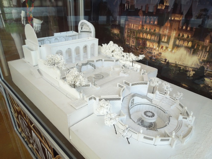 Great Gatsby castle film production model