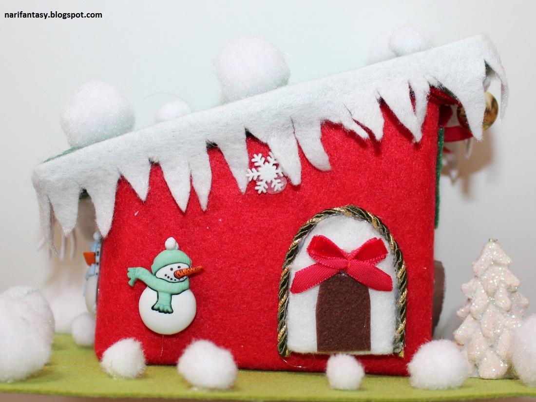 Nari fantasy decorazioni natalizie in tessuto feltro e carta - Decorazioni natalizie in cartoncino ...