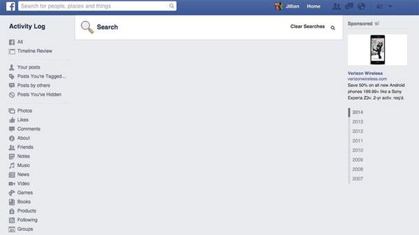 Hướng dẫn xóa các lệnh tìm kiếm trên Facebook 6