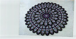 Free Crochet Pattern For Cathedral Window Afghan : USD10,000 Cathedral Window Afghan: My Original Cathedral ...