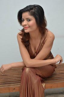 Gehana Vasisth Stills in Sleeveless Long Dress