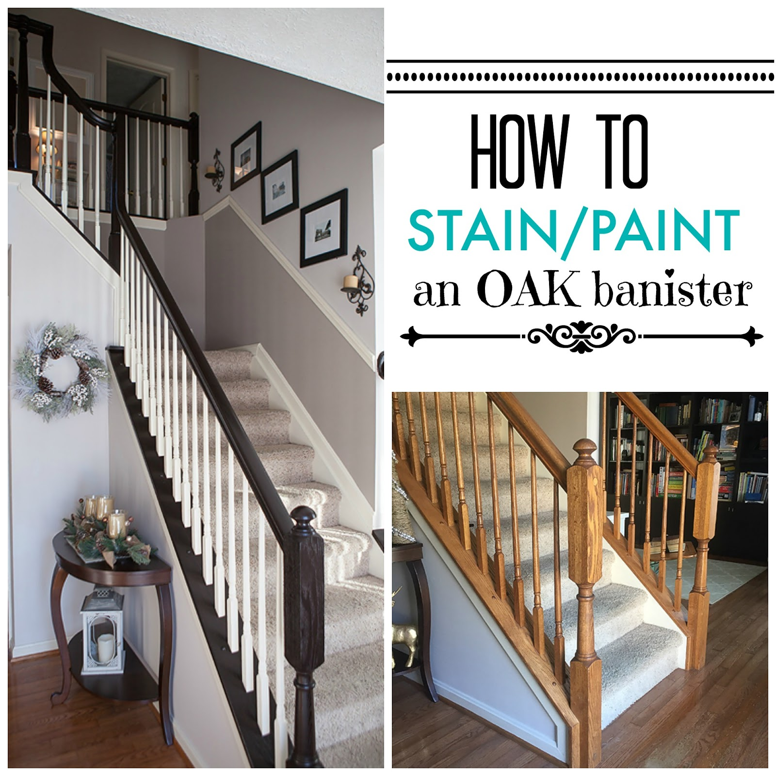 DIY   How To Stain And Paint Oak Stair Banisters