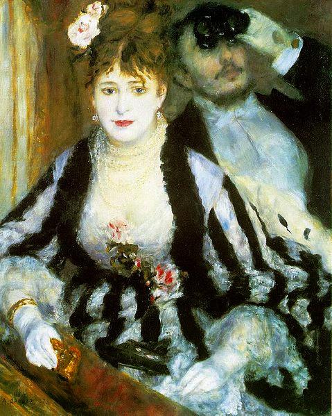 """Picture of """"La Loge"""" by Renoir, 1874"""