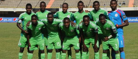 Nigeria versus Ghana 2-0 in All Africa Games football match.