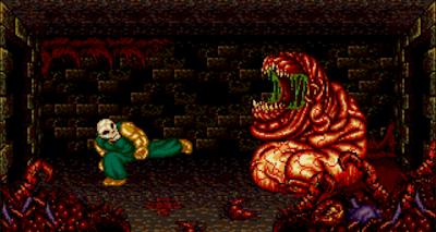 Splatterhouse 2 sur megadrive, une foule d'ennemis et de boss gigantesques.