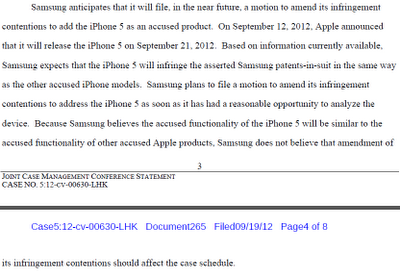 > Samsung tells U.S. court it will soon attack the iPhone 5 with eight patents for a starter - Photo posted in BX Tech | Sign in and leave a comment below!