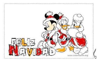 Feliz navidad con los nuñecos de Disney