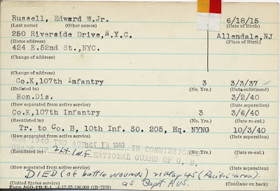 WWII NY National Guard Records Go Online