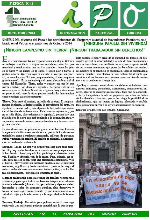 Boletín Pastoral Obrera
