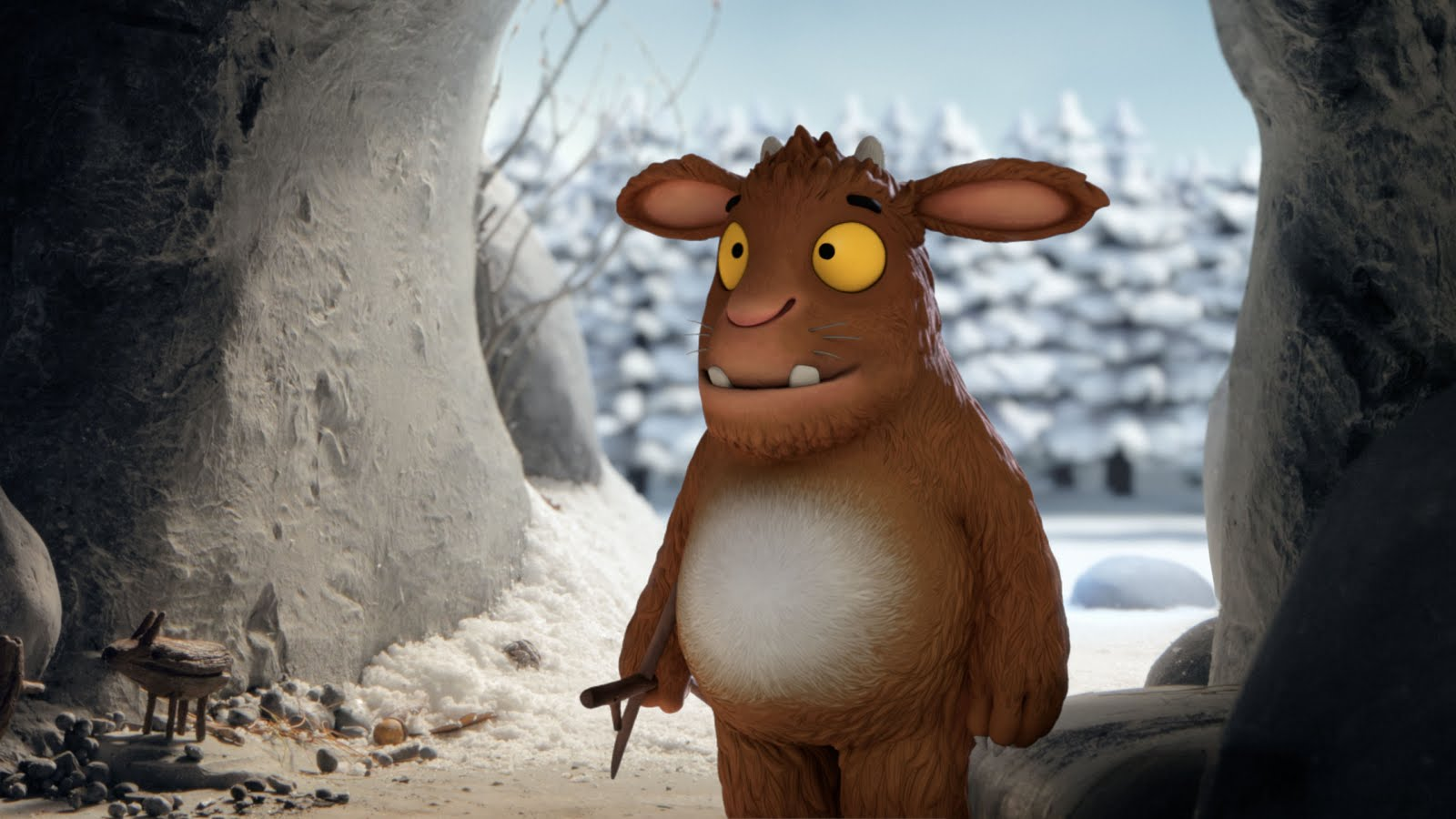 The Gruffalo´s Child at the cave entrance