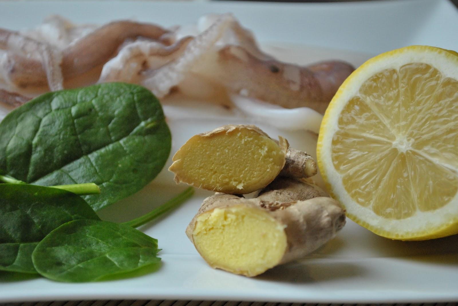 Cookdream calamari al limone e zenzero for Cucinare zenzero