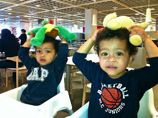 Kids in IKEA cafeteria