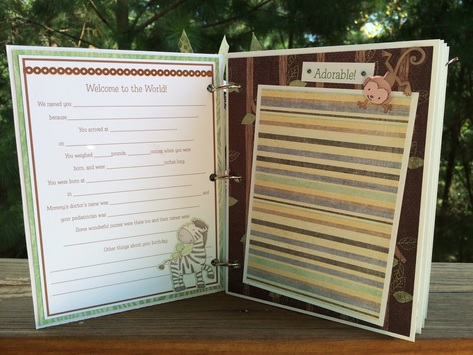 How to make scrapbook journal - This Baby Scrapbook Journal Mini Album Is Available As A Diy Kit 39 99 Or Pre Made 49 99 And Will Make A Wonderful Keepsake For All Of Those Treasured