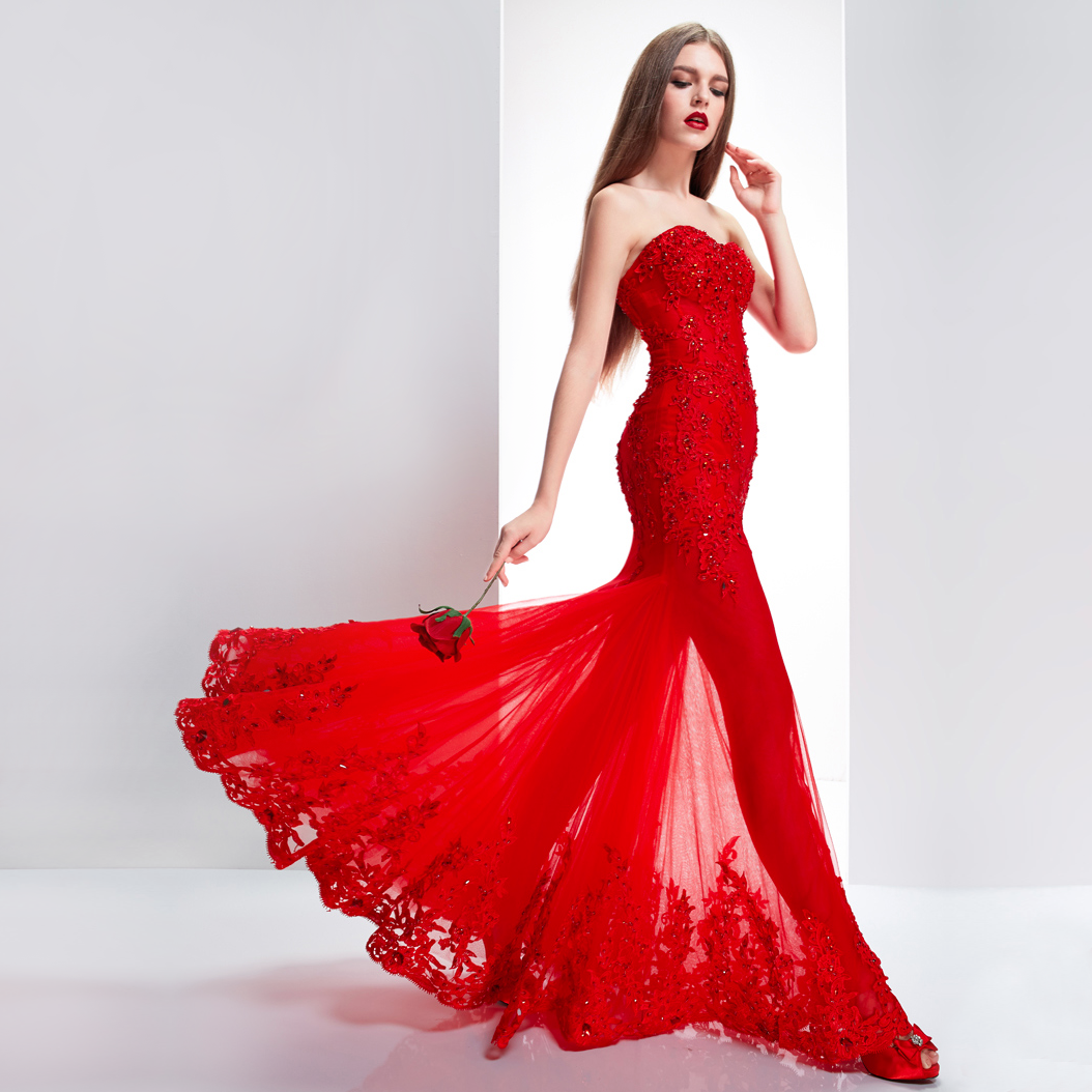 Wedding dresses red women 39 s fashion for Red dresses for a wedding