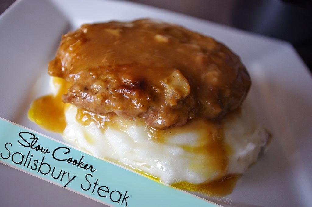 Slow Cooker Salisbury Steak Recipe — A Modern Mrs.