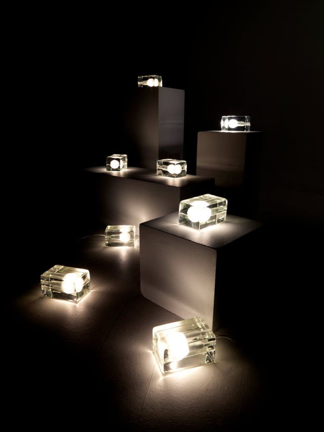 Ice-Block Lamp Cast-in-Glass by Design House Stockholm ...