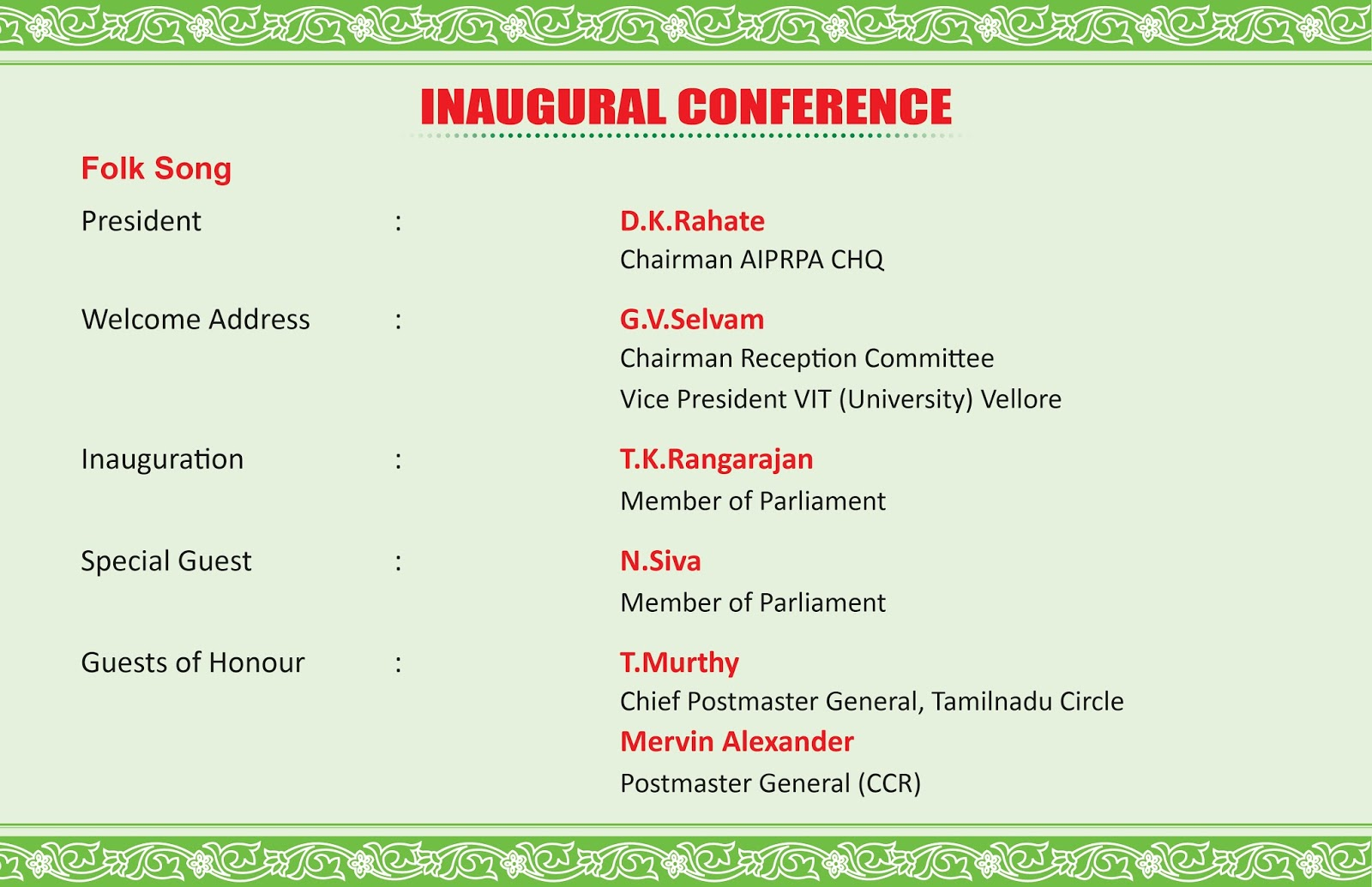 All India Postal & RMS Pensioners Association : INVITATION ...