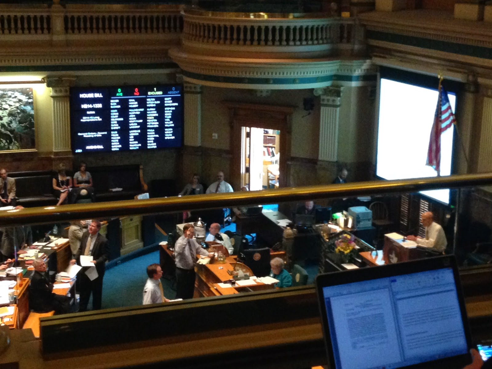 A view of the House debating the budget amendment that would allocate funds to tumbleweed cleanup