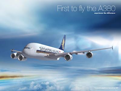 Gambar Pesawat Singapore Airlines