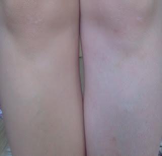 airbrush legs by sally hansen rajstopy w spray'u light glow przed po before&after