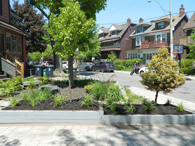 The Pocket garden renovation after  Paul Jung Gardening Services Toronto