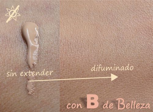 Swatch Natural beige Base maquillaje