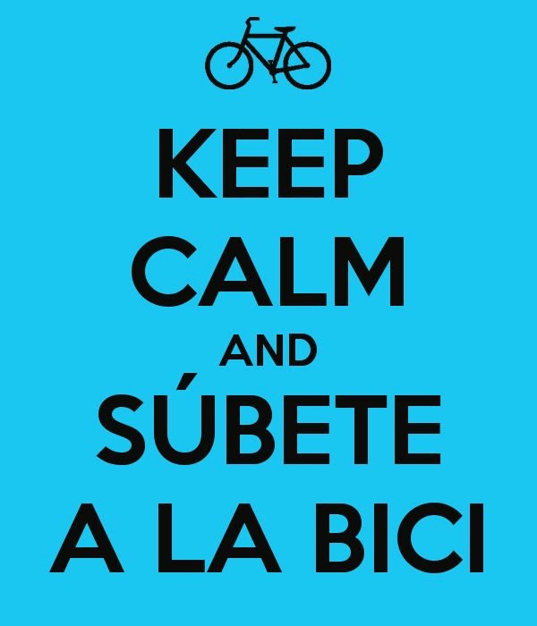 ...And súbete a la bici...
