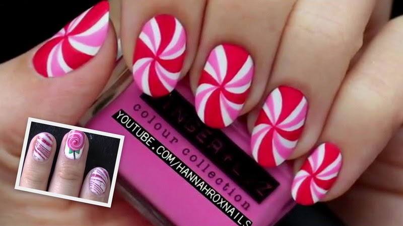Video Of The Week: Candy Cane Nailart