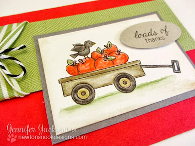 Wagon thank you card using Wagon of Wishes stamp set