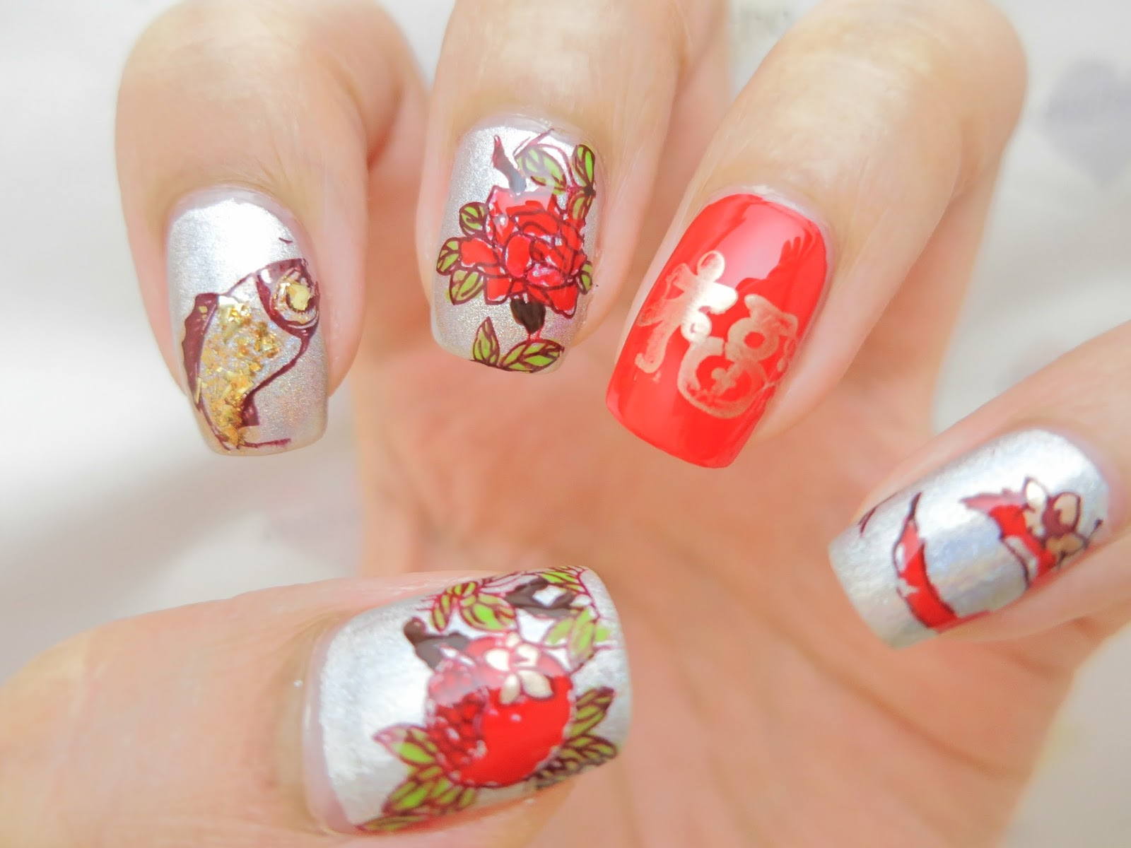 Chinese New Year Nail Art Y017 Image Plate (Born Pretty Store Review ...