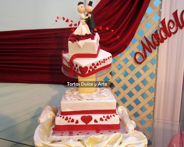 Torta Novios Locos Bodas Matrimonio dulce y arte