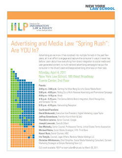 Social, Mobile, Legal: NY Law School 2011 Conference