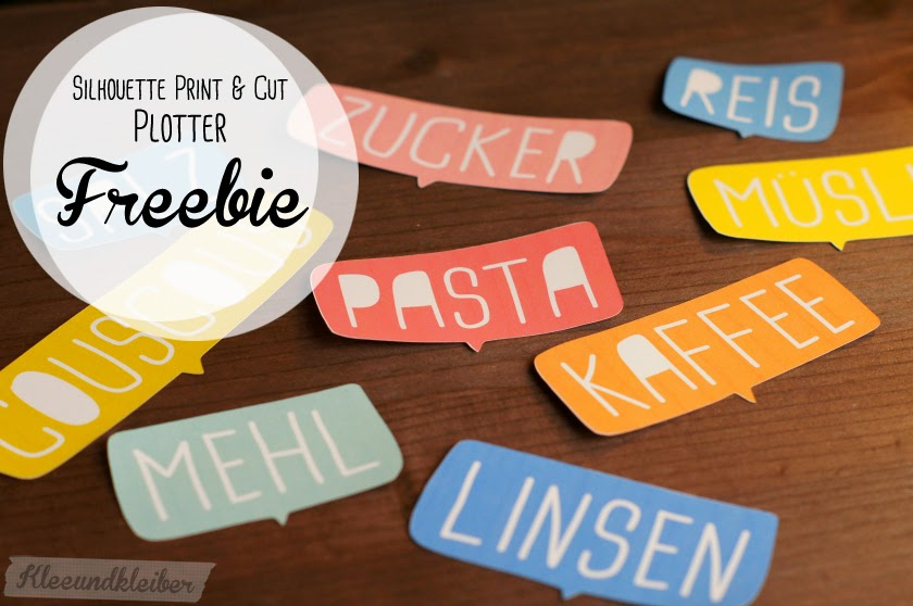 Freebie Label Etiketten Plotter