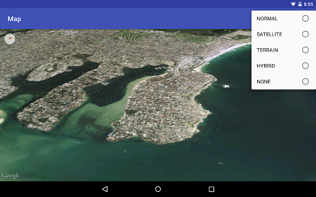Set Map Type For Google Maps Activeness Using Google Maps Android Api V2